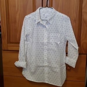 Gap long-sleeve cotton button up blouse/shirt